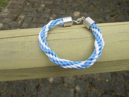 bracelet kumihino bleu et blanc