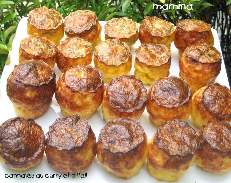 cannelés ail et curry