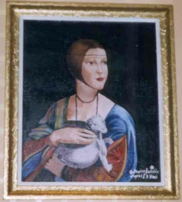 La dame à l'hermine L De Vinci