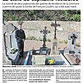 La presse parle de la restauration de la tombe coudrin