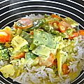 Curry de cabillaud au lait de coco