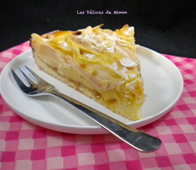 Gâteau d'automne poires-amandes 6