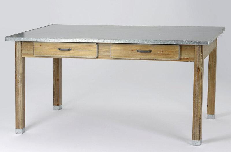 table bois et zinc