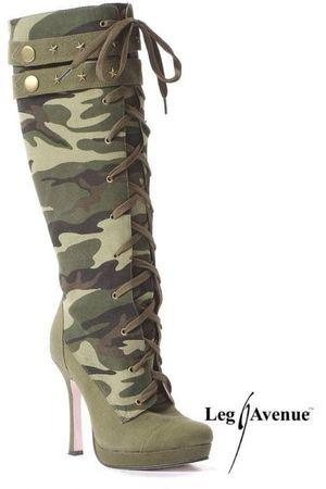 leg avenue bottes a talons camouflage