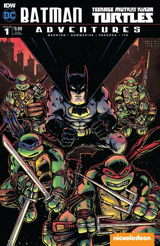 IDW batman TMNT adventures 01 sub cover eastman