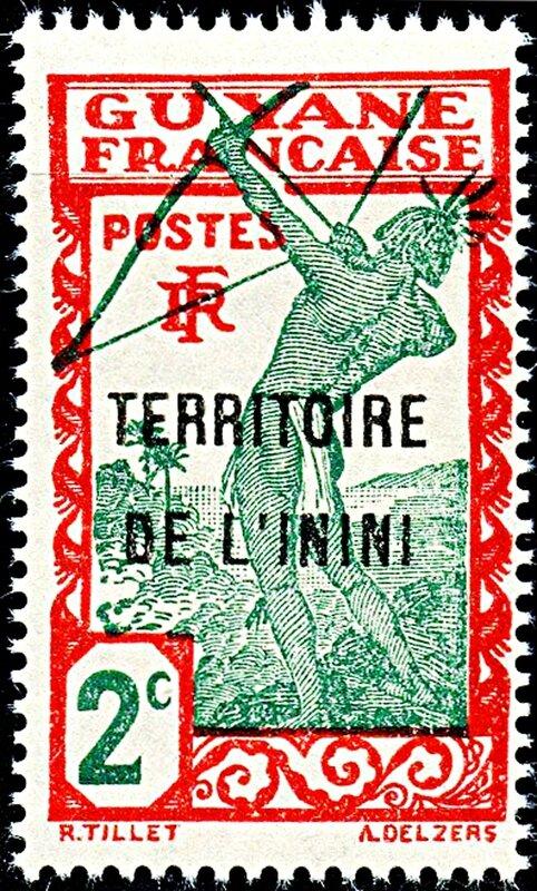 timbre guyane française-TERRITOIRE DE L'ININI