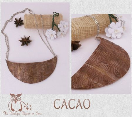 Collier Plastron 1 CACAO
