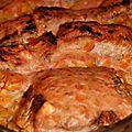 Tagliatelles au saumon en croute d'epices, sauce rose