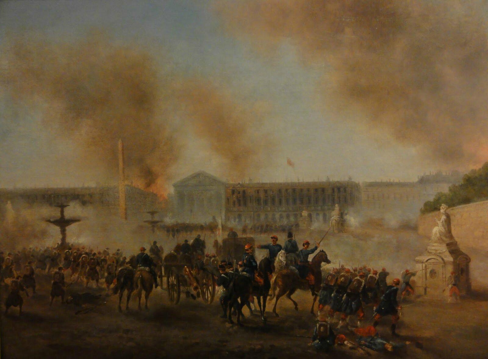 Boulanger, place de la concorde en mai 1871