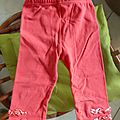Legging fille 2 ans rose 0.50€