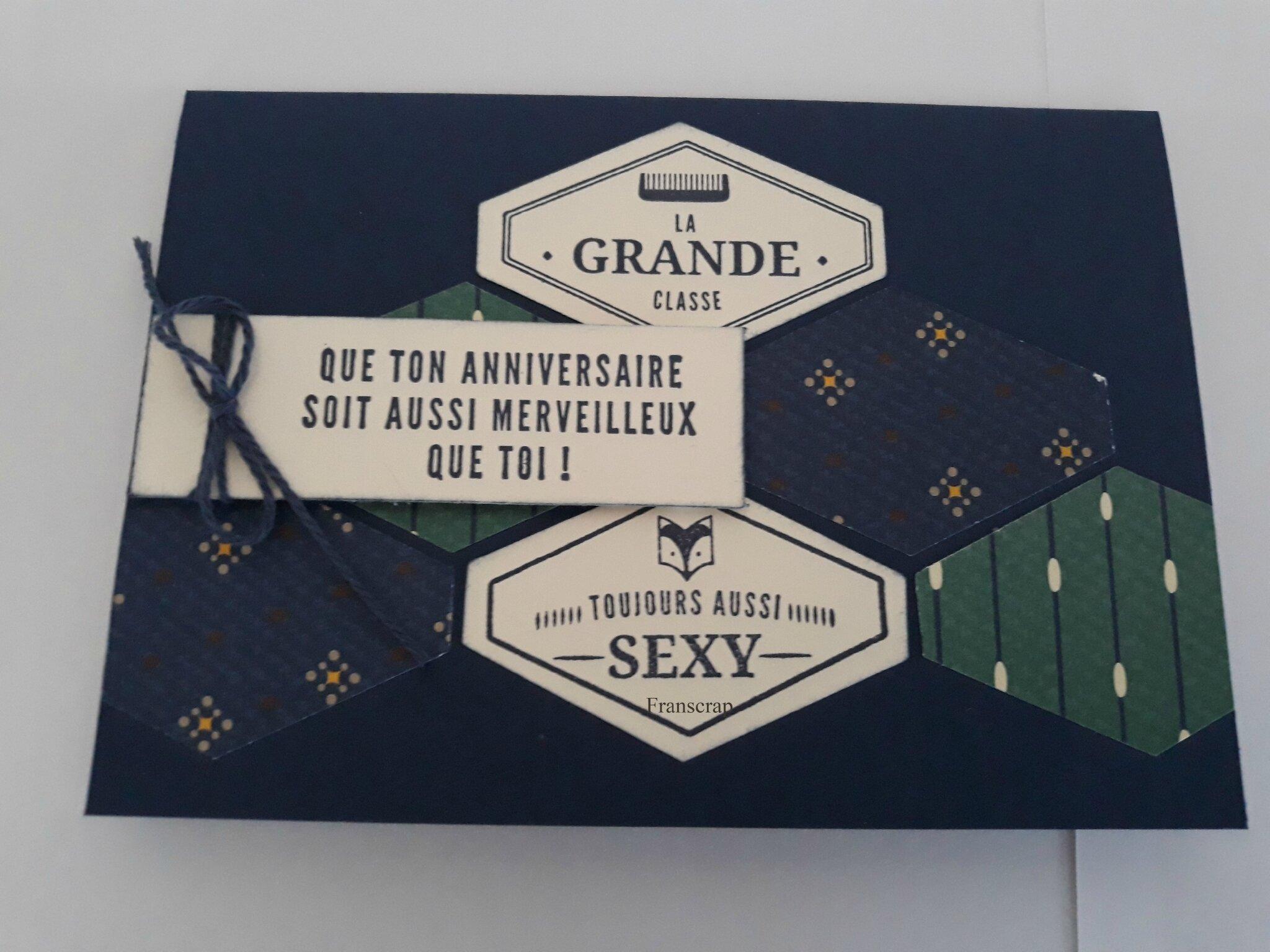 Carte D Anniversaire La Grande Classe Franscrap