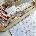 Planches à coupons de tissus & boutons