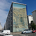 Lyon fresque murale photo humour
