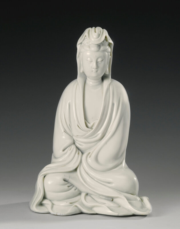 A 'Dehua' figure of seated Guanyin, Qing dynasty, 17th century1