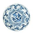 A blue and white kraak saucer dish, wanli, 1573-1619