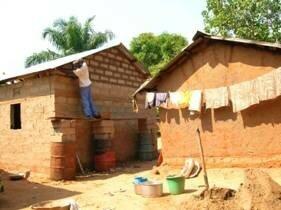 construction d 39 une maison de 3 pi ces en rdc pour usd dunia sendwe. Black Bedroom Furniture Sets. Home Design Ideas