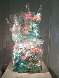 Exposition Murano - Fragile, musée Maillol, César, Compression Coca Cola 10