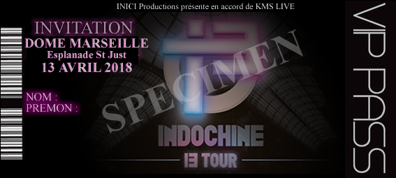 invitation 13EME TOUR INDOCHINE