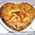Clafoutis aux pommes caramelisees