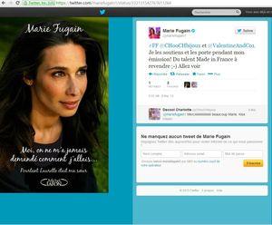 tweet Marie Fugain 8