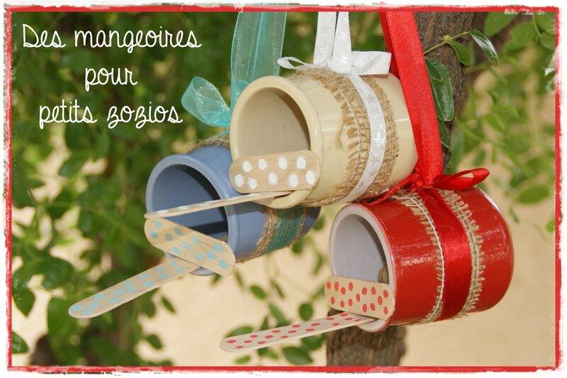 Diy d co pour le jardin des mangeoires patriotiques avec des pots de yaourts les p 39 tites - Deco jardin recyclage lyon ...