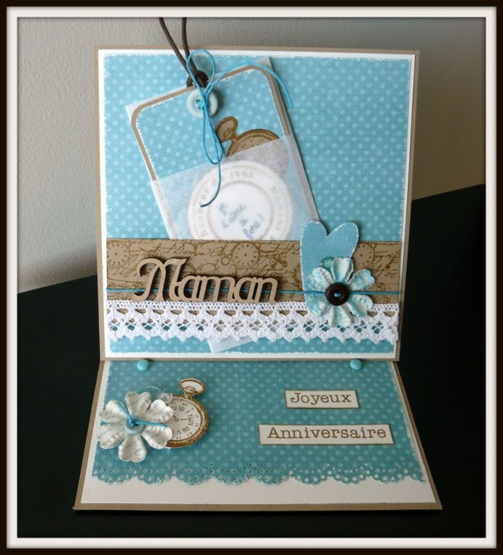 Carte Anniversaire Maman Photo De Cartes Scrap Scrapbooking Memories