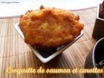 Croquette de saumon et carottes