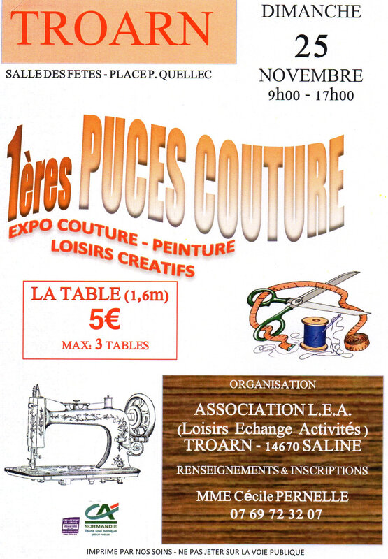 flyer puces couture