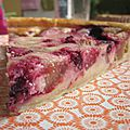 Tarte à la rhubarbe & fruits rouges