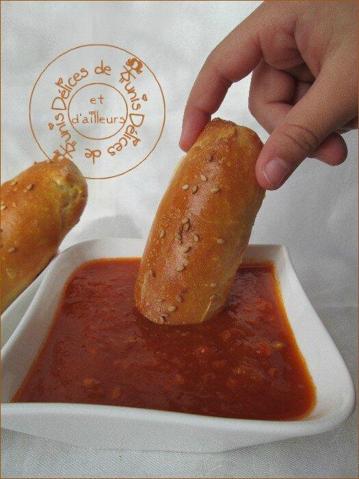 Batonnets de pain à la viande et sa sauce tomate maison 2