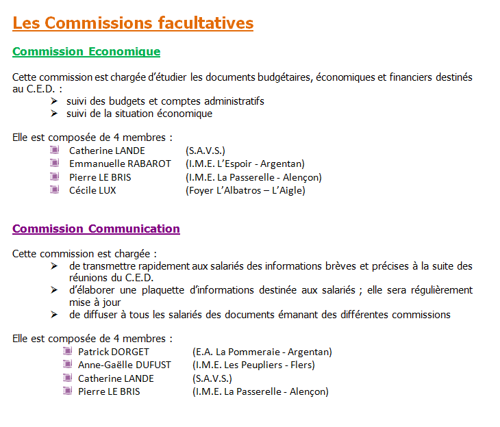 commissions facultatives 1