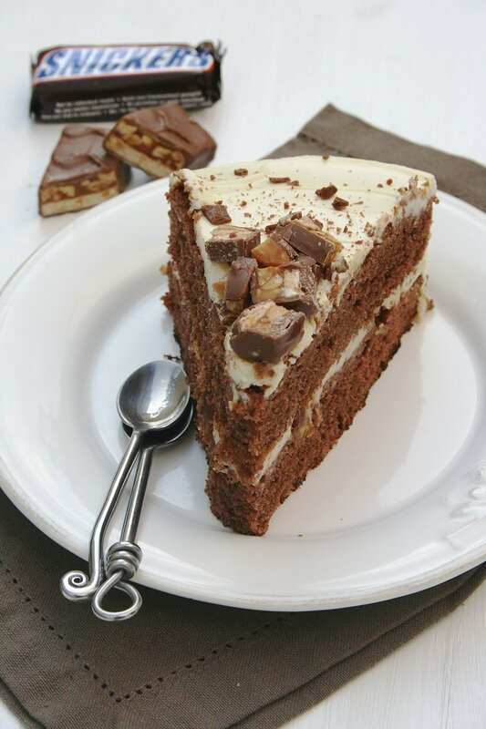 Snickers layer cake - Minouchka 3