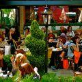 Scène de vie à Saint-Germain des Prés.