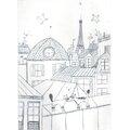 Amelie Biggs_toits de paris_gravure pointe sèche