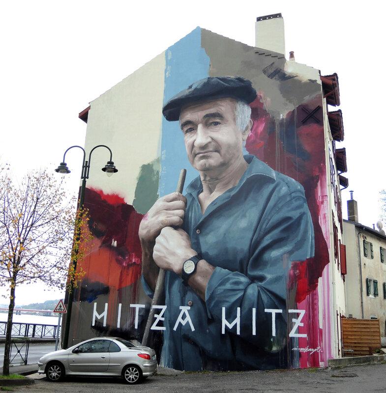 Bayonne, Festival Street Art Point de vue 2017, fresque Sismikazot (64)