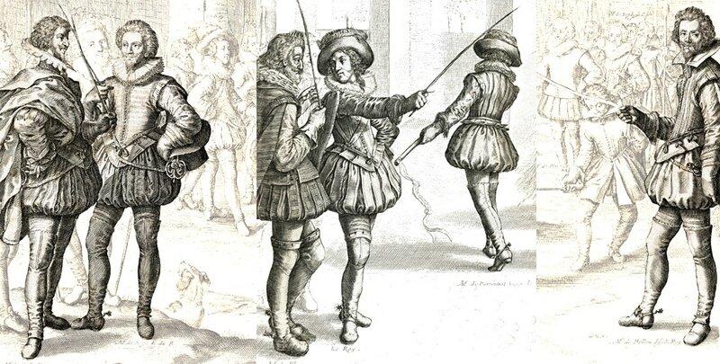 Cour de Louis XIII vers 1620-1625