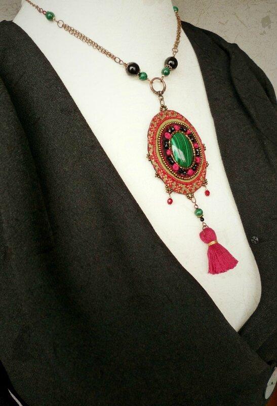 collier pendent Malachite2