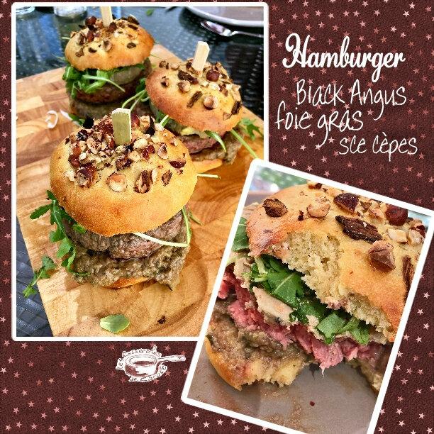 hamburger black angus foie gras sce cèpes (SCRAP)