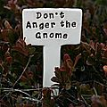 Don't anger your inner gnome