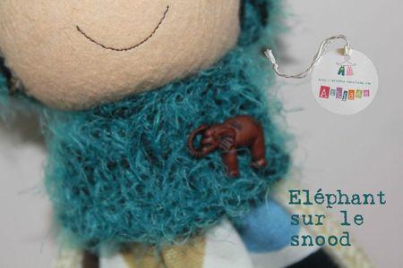 Lutin Kokoya 2 snood avec éléphant