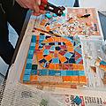 Atelier initiation à la mosaïque adulte - thème odorico - jeu de paume à rennes