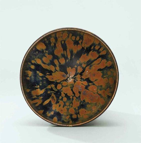 A russet-splashed black-glazed bowl, Song dynasty (960-1279)