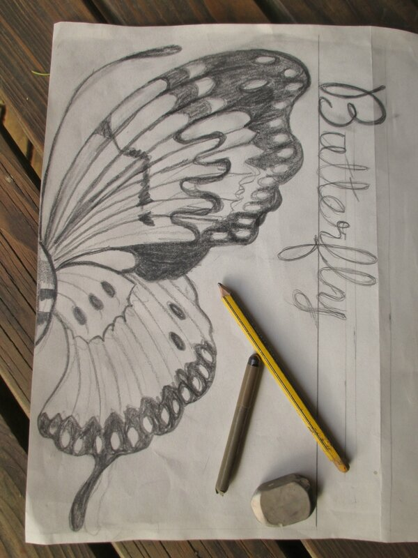 croquis papillon - CelinArtisa
