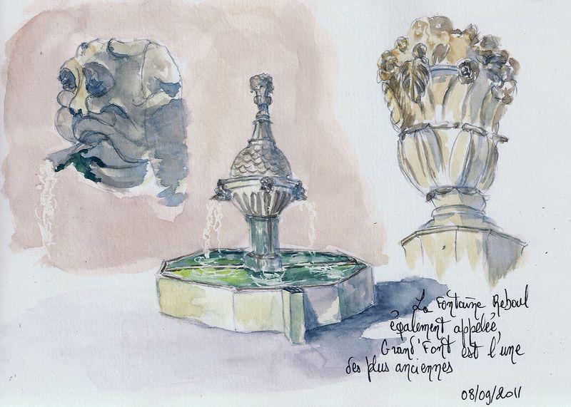 Pernes-les-Fontaines : Fontaine Reboul