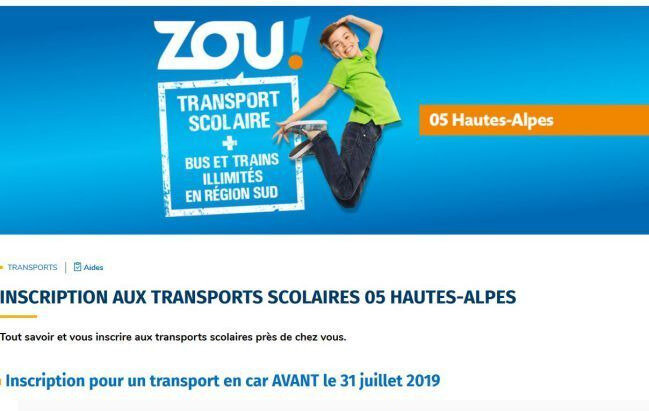 transport scolaire 2019 2020