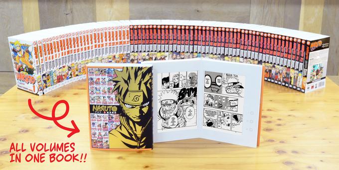L'intégrale de Naruto dans une liseuse d'ebook dédiée