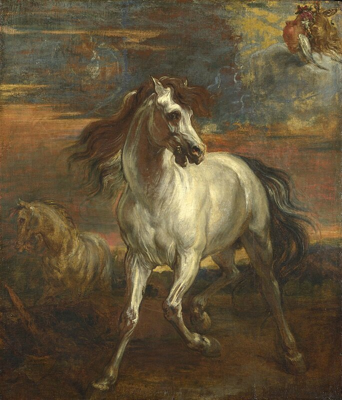 Style of Anthony van Dyck, 'The Horses of Achilles', 1635-45