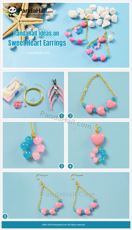 3-PandaHall Ideas on Sweet Heart Earrings