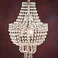 Lustre en forme de montgolfière à perles de verre de murano