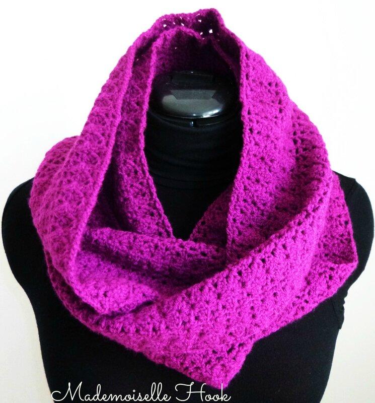 Snood_mitaines violet 8